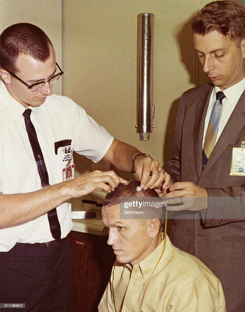 Frank Borman Having Head Examined : News Photo