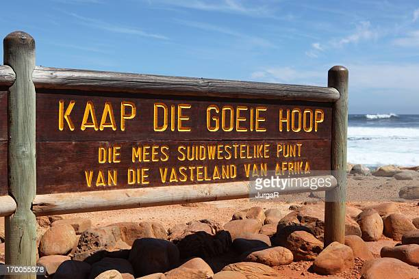 Cape Of Good Hope Sign in Afrikaans South Africa