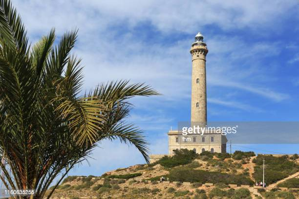 cape palos lighthouse (spain) - la manga stock pictures, royalty-free photos & images