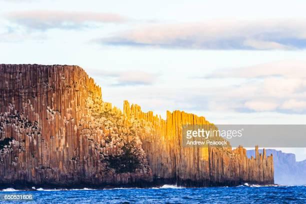 Cape Raoul, a coastal seascape of rock platforms, cliffs and columns