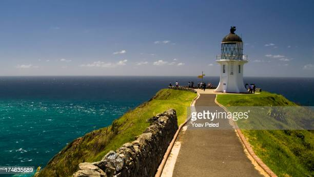 cape reinga, lighthouse at the edge of new zealand - northland new zealand stock pictures, royalty-free photos & images