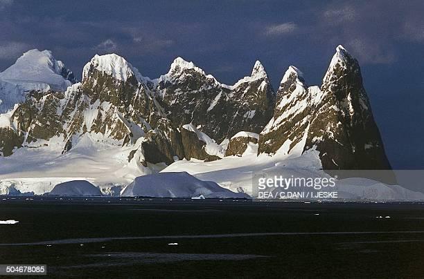 Cape Renard with the Una Peaks on the right Antarctic Peninsula Antarctica