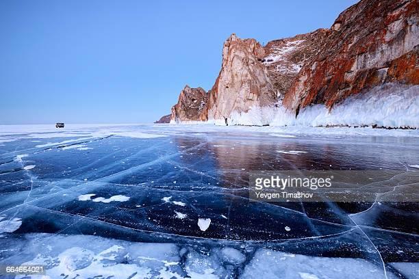 Cape Sagan Khushun and Three Brothers Rock, Baikal Lake, Olkhon Island, Siberia, Russia