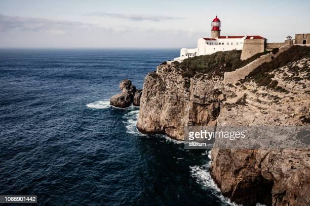 kap san vicente fyr algarve portugal - sagres bildbanksfoton och bilder