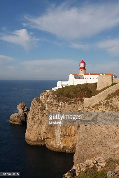 cape sao vincente lighthouse algarve portugal - sagres bildbanksfoton och bilder