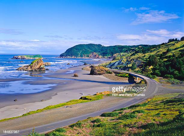 cape sebastian state scenic coast with rocks - oregon us state stock pictures, royalty-free photos & images