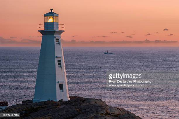 Cape Spear Lighthouse and Boat