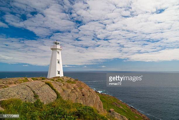 cape spear lighthouse - st. john's newfoundland stock photos and pictures