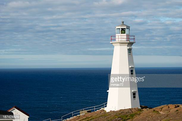 cape spears lighthouse - st. john's newfoundland stock photos and pictures