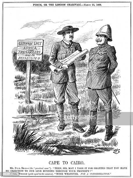 'Cape to Cairo' 1899 Cecil Rhodes asking the German Emperor Wilhelm II for permission for the Cape to Cairo telegraph line to be laid across German...