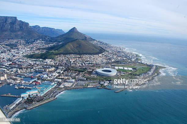 cape town aerial shot - cape town stock pictures, royalty-free photos & images