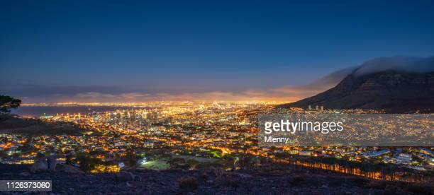 Cape Town Illuminated Night Panorama South Africa