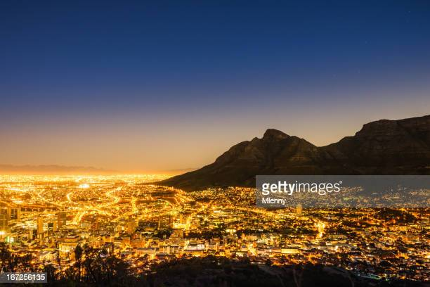 Cape Town Illuminated Night Scene South Africa