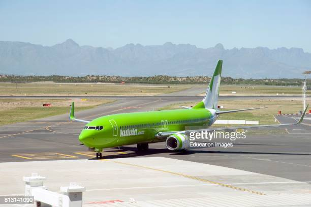 Cape Town International Airport South Africa a Boeing jet of the low cost airline Kulula fleet on the taxiway