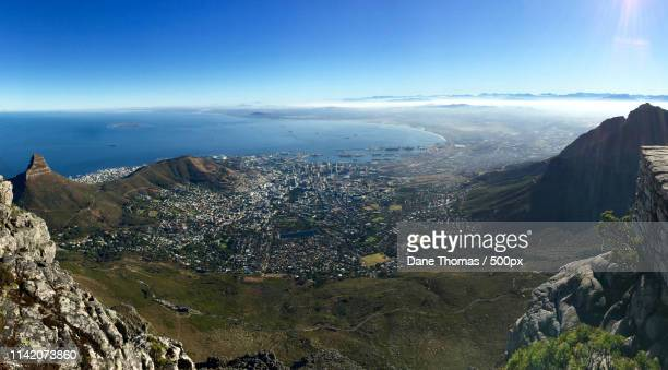 cape town panorama from table mountain - pietermaritzburg stock pictures, royalty-free photos & images