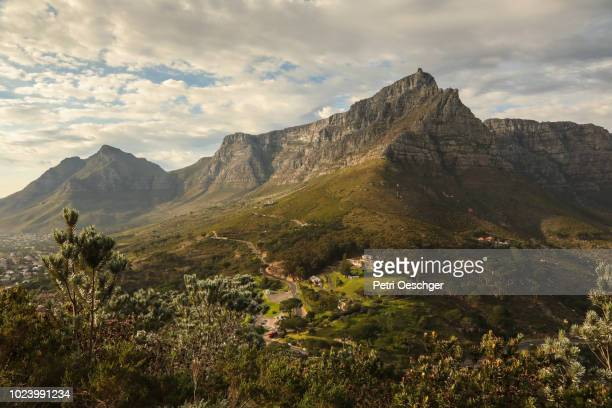 cape town scenics. - table mountain stock pictures, royalty-free photos & images