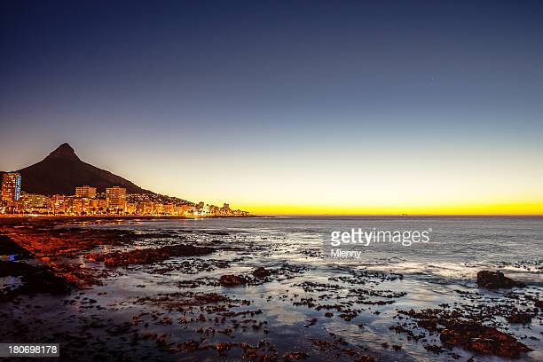 Cape Town Sea Point South Africa Illuminated Night Scene