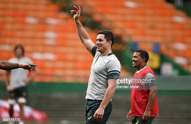 Cape Town South Africa 10 June 2016 Francois Louw of South Africa during their captain's run in DHL Newlands Stadium Cape Town South Africa
