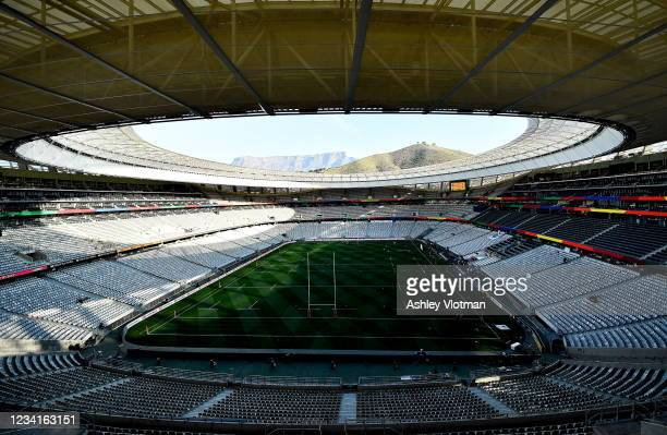Cape Town , South Africa - 24 July 2021; A general view of Cape Town stadium during the first test of the British and Irish Lions tour match between...