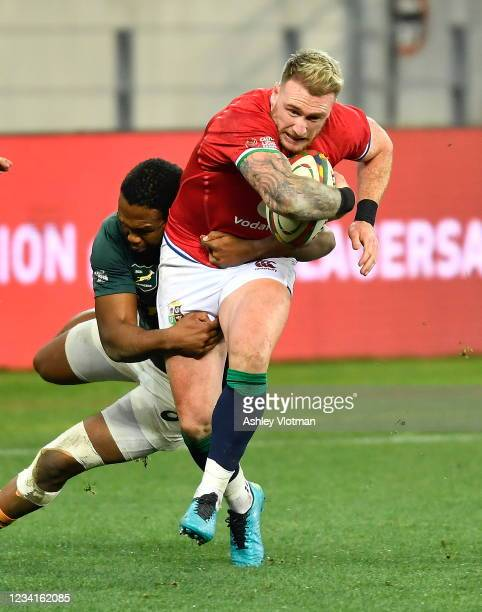 Cape Town , South Africa - 24 July 2021; Stuart Hogg of British and Irish Lions during the first test of the British and Irish Lions tour match...