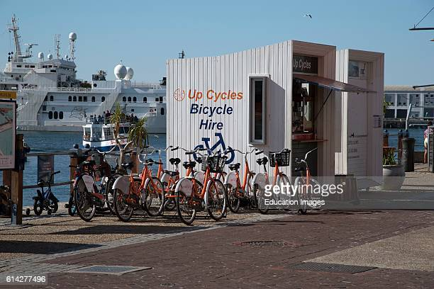 Cape Town South Africa the VA Waterfront'S Cycle Hire Station Where Tourists May Rent a Bike To Tour the Waterfront Area