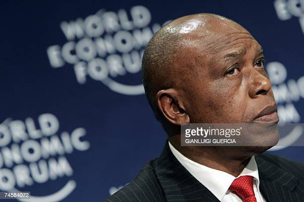 Tokyo Sexwale Executive chairman of Mvelaphanda holdings gives 13 June 2007 a press conference during the starting day of the World Economic forum on...
