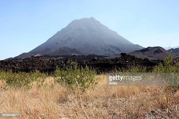 Cape Verde 'Pico do Fogo' or Mount Fogo stratovolcano