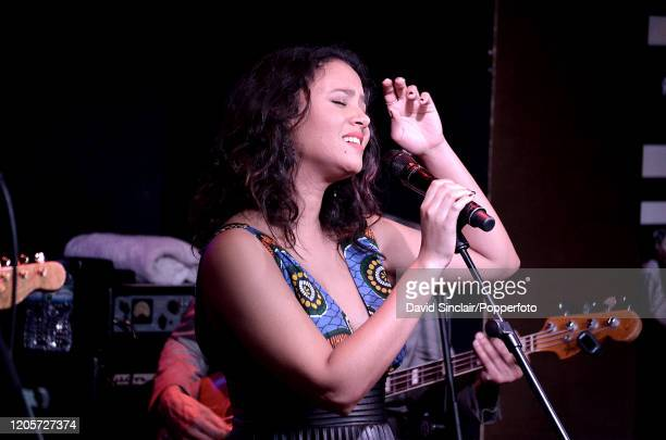 Cape Verdean singer Mayra Andrade performs live on stage at Ronnie Scott's Jazz Club in Soho London on 10th March 2014