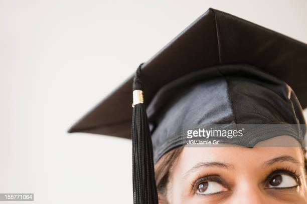 Cape Verdean woman in graduation cap