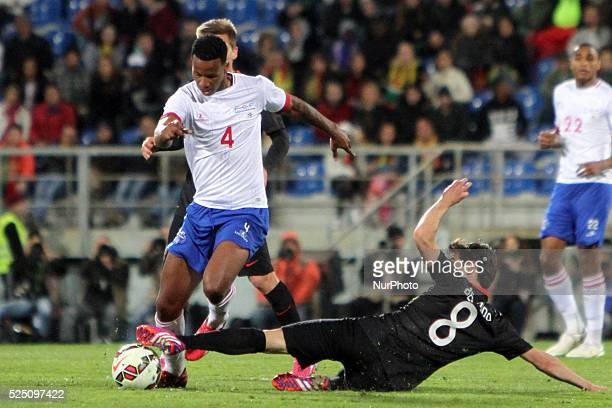 Cape Verdes midfielder Semedo and Portugals midfielder Bernardo Silva during the friendly solidarity soccer match Portugal vs Cape Verde at Antnio...