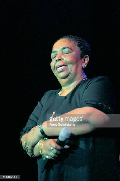Cape Verdian singer Cesaria Evora performs at the Concertgebouw on June 12th 2000 in Amsterdam, Netherlands.