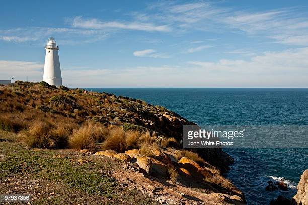 cape willoughby light house - kangaroo island stock photos and pictures