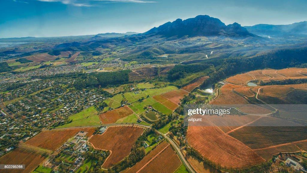 Cape Winelands Autumn Scene : Stock Photo