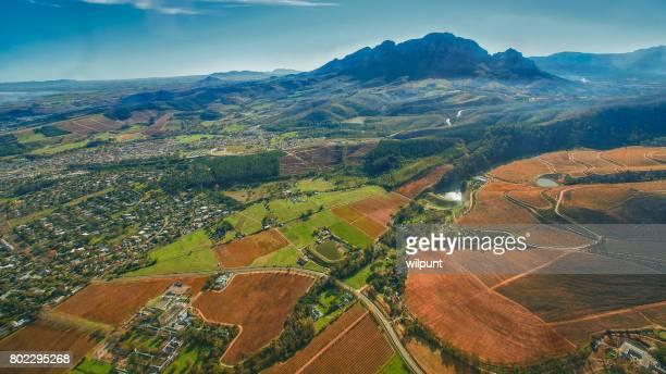 Cape Winelands Autumn Scene