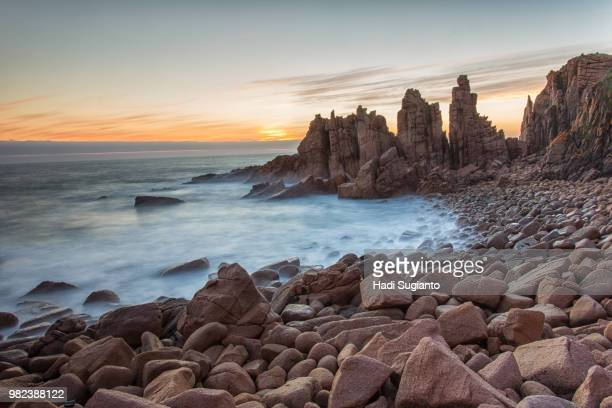 cape woolamai - 1 - rocky coastline stock pictures, royalty-free photos & images