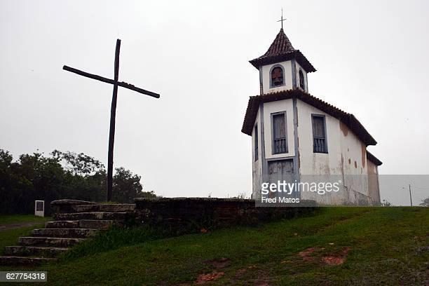 capela de nossa senhora quitéria, em catas altas, minas gerais, brazil - chapel - fotografias e filmes do acervo