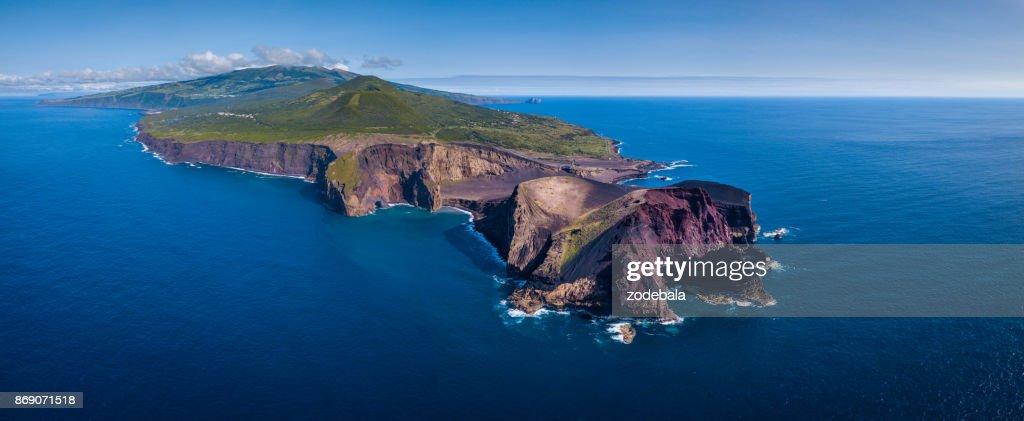 Capelinhos Volcano in Azores Islands, Faial : Foto de stock