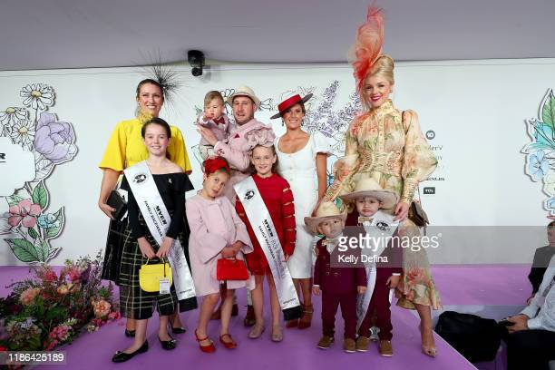 Capenteri Family 1st place Tamou Family 2nd place and Donovan Family 3rd place in the Family Runway at The Park during 2019 Stakes Day at Flemington...