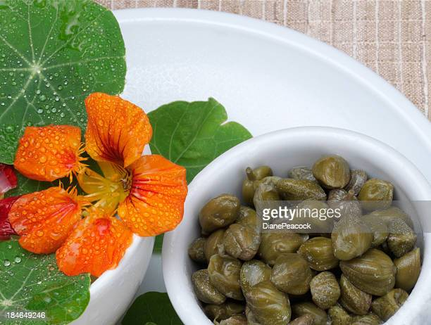 capers - nasturtium stock pictures, royalty-free photos & images