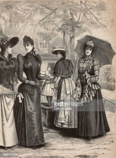 Capes and spring overcoats woman wearing a tulle and lace dress woman wearing an embroidered jacket and skirt a 24 yearold girl in a embroidered...