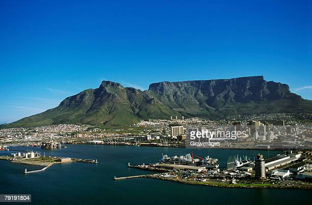 capetown, south africa, aerial view - table mountain stock pictures, royalty-free photos & images