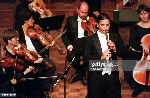 CAPhilharmonia11015RL–KODAK–Newport Beach–Soloist Gonzalo Ruiz plays the oboe with the Philharmonia Baroque Orchestra during a performance at St...
