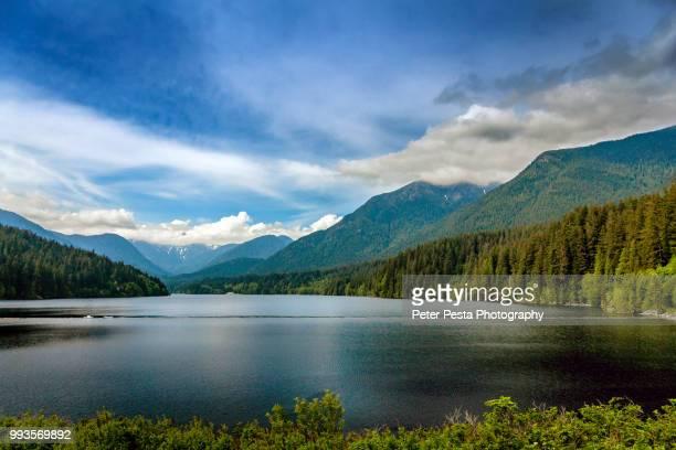 capilano lake - vancouver stock-fotos und bilder