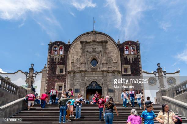 capilla del cerrito or the church on the hill. tepeyac hill the site celebrating the virgin of guadalupe in mexico city. mexico - {{asset.href}} stockfoto's en -beelden