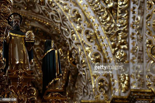 capilla del rosario, an architectural jewel of new world baroque - santa fe province stock photos and pictures
