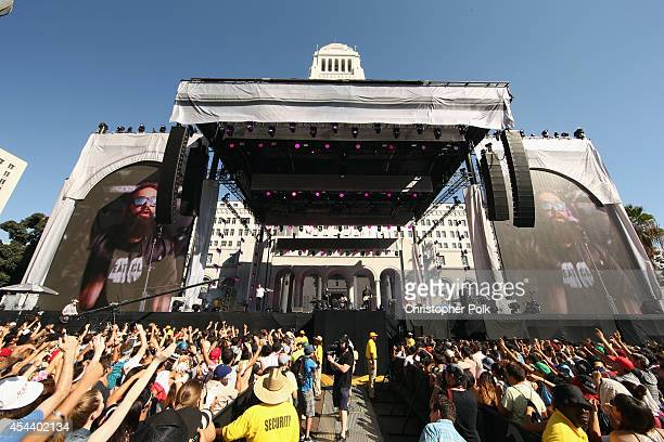 Capital Cities perform on the Marilyn Stage during day 1 of the 2014 Budweiser Made in America Festival at Los Angeles Grand Park on August 30 2014...