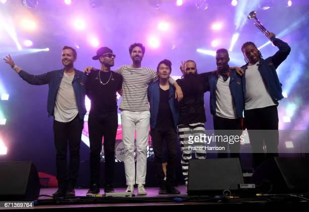 Capital Cities performs at the Mojave Tent during day 1 of the 2017 Coachella Valley Music Arts Festival at the Empire Polo Club on April 21 2017 in...