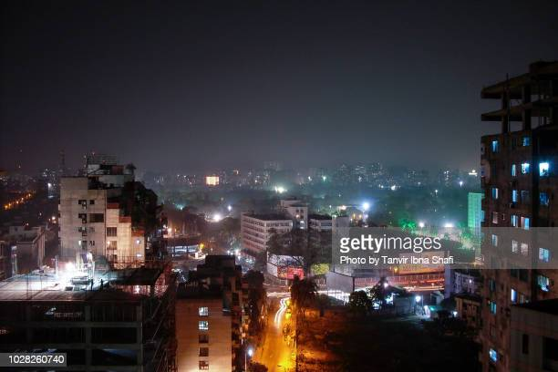 capital city dhaka at night; dhaka, bangladesh - bangladesh stock pictures, royalty-free photos & images
