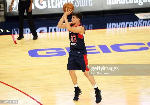 Capital City GoGo guard Kellen Dunham takes a shot during an NBA G League match between the Capital City GoGo and Greensboro Swarm on November 03 at...