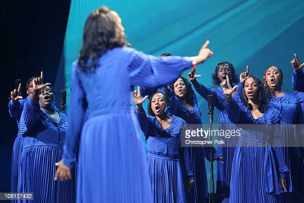 Capital City Singers perform Hallelujah Chorus onstage during Verizon's How Sweet The Sound 2010 event at ORACLE Arena on October 9 2010 in Oakland...